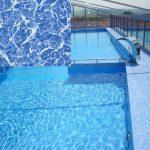 Elbtal Kék márvány medencefólia