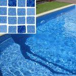 Elbtal kék mozaik medencefólia